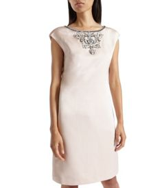 Viktria Embellished shift dress