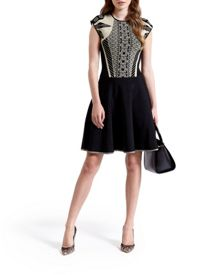 Jenkin Knitted jacquard skater dress