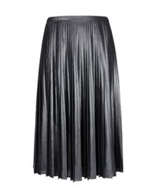 Zainea Metallic pleated midi skirt