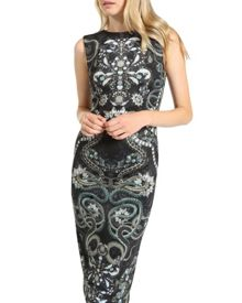 Bellia Jewel print midi dress