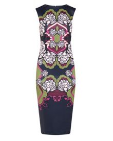 Zyta Surreal Tapestry midi dress