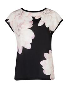Kida Monochrome Floral shift dress