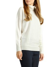 Meera Cashmere Roll Neck Jumper