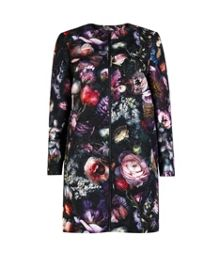 Carleih Shadow Floral cocoon coat