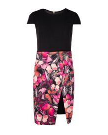Quiana Butterfly Cluster wrap skirt dress
