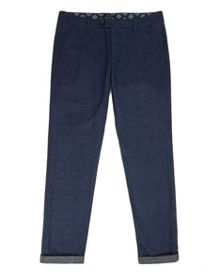 Irvchi Slim fit brushed texture trousers