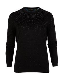 Dazia wool and silk-blend jumper