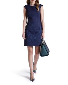 Zalad Jacquard shift dress