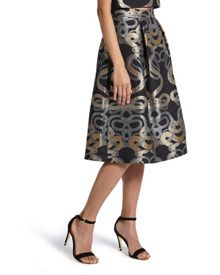 Primmy Snake jacquard full skirt