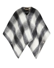 Emmaa Brushed wool checked cape