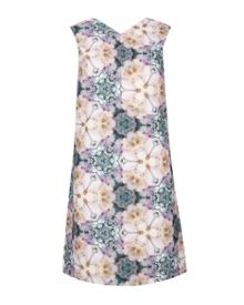 Illonia Tile Floral Geo shift dress