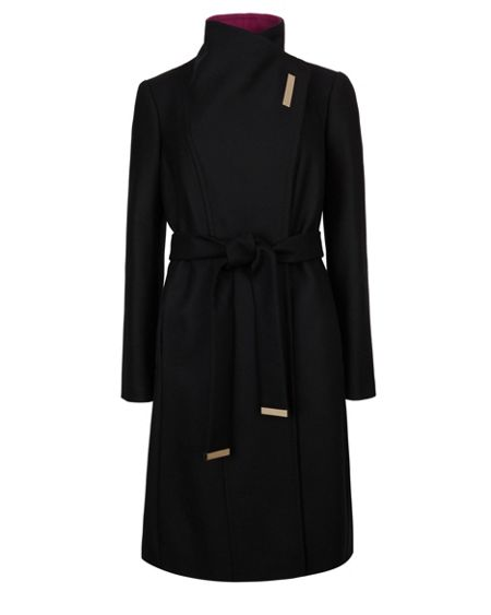 Ted Baker Lorah Long wool wrap coat