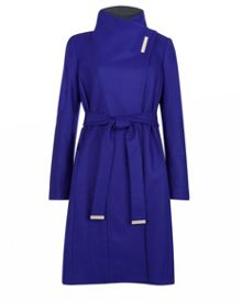 Lorah Long wool wrap coat