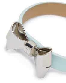 Beckay leather bow bracelet