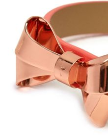 Ted Baker Beckay leather bow bracelet