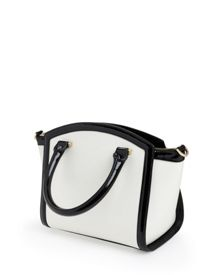Demmie Curved bow leather tote bag