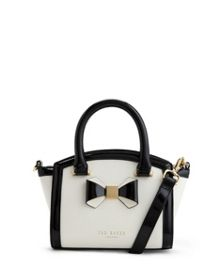 Deliyah Bow leather tote bag