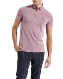 Ted Baker Hoxtan Woven Collar Polo Shirt