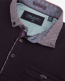 Ted Baker Bennam Woven collar polo shirt