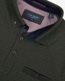 Ted Baker Mendosa Knitted Collar Polo Shirt