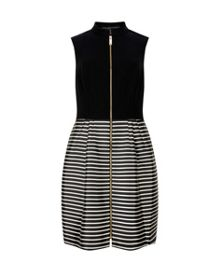 Maurey Striped full skirt dress