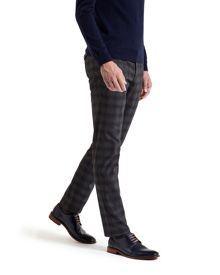 Rothman Brushed cotton checked trousers
