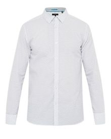 Ted Baker Gohome Geo Print Cotton Shirt