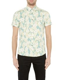 Ted Baker Realhip floral cotton shirt