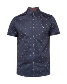 Ted Baker Mydance spotted floral cotton shirt