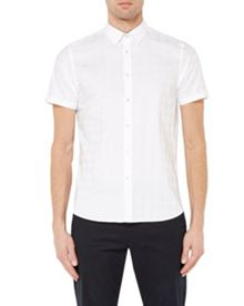 Ted Baker Runrun Houndstooth Cotton Shirt