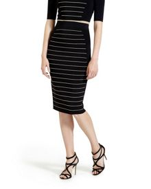 Shelpa Stripe Knitted Midi Skirt
