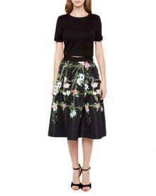 Ted Baker Emmalin Secret Trellis midi skirt