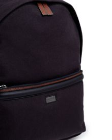 Ted Baker Brandor canvas and leather trim rucksack