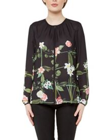 Ted Baker Keekee Secret Trellis print blouse