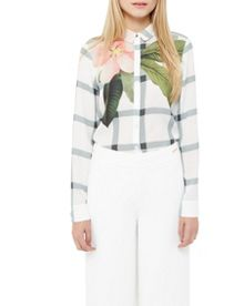 Ted Baker Tryna Secret Trellis shirt