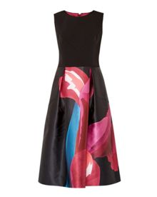 Kathlee Stencilled Stem midi dress