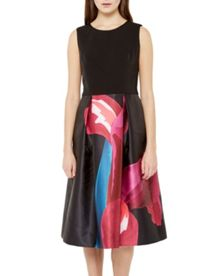 Ted Baker Kathlee Stencilled Stem midi dress