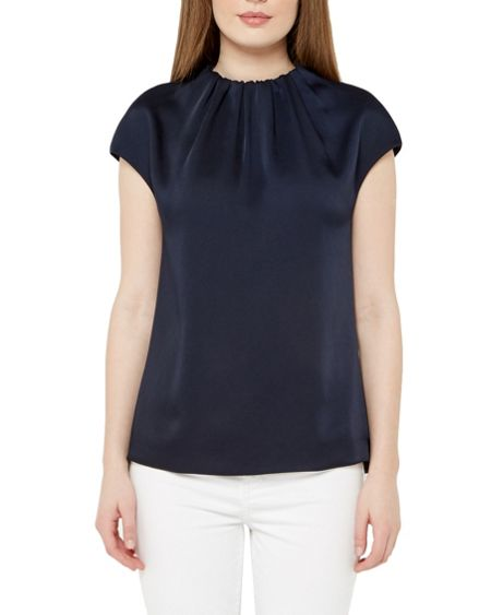 Ted Baker Leonee High Gathered Neck Top