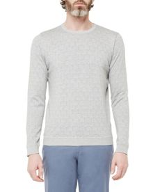 Ted Baker Leafjak Geo Printed Cotton Jumper