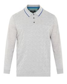 Hexham Square Patterned Polo Shirt