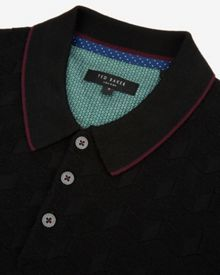 Ted Baker Hexham Square Patterned Polo Shirt