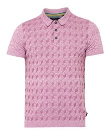 Ted Baker Mexham Geo Print Cotton-blend Polo Shirt