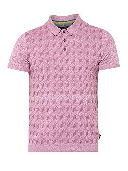 Men's Ted Baker Mexham Geo Print Cotton-blend Polo