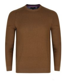Kybosh Mixed Stitch Crew Neck Jumper