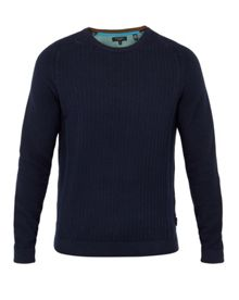 Ted Baker Kybosh Mixed Stitch Crew Neck Jumper