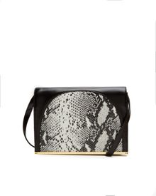 Ted Baker Allys Snake metallic bar clutch bag