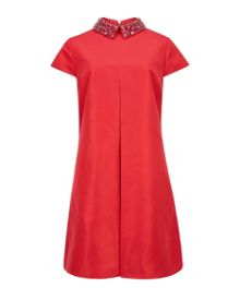Enid Embellished collar tunic dress