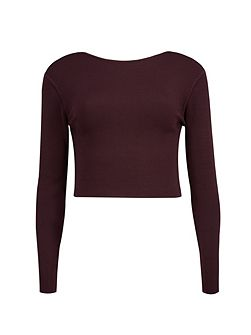 Cailie Cropped long sleeved top
