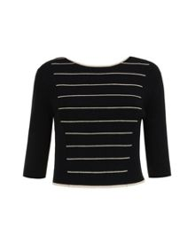 Shelina Striped Knitted Crop Top