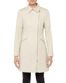 Faluk Quilted sleeve trench coat